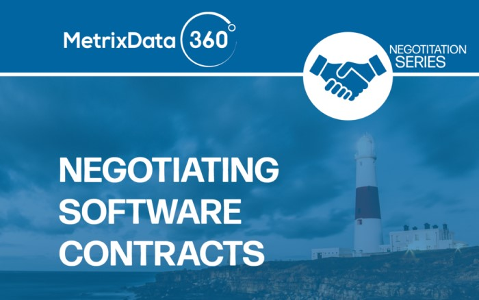 Guide to Negotiating Software Contracts