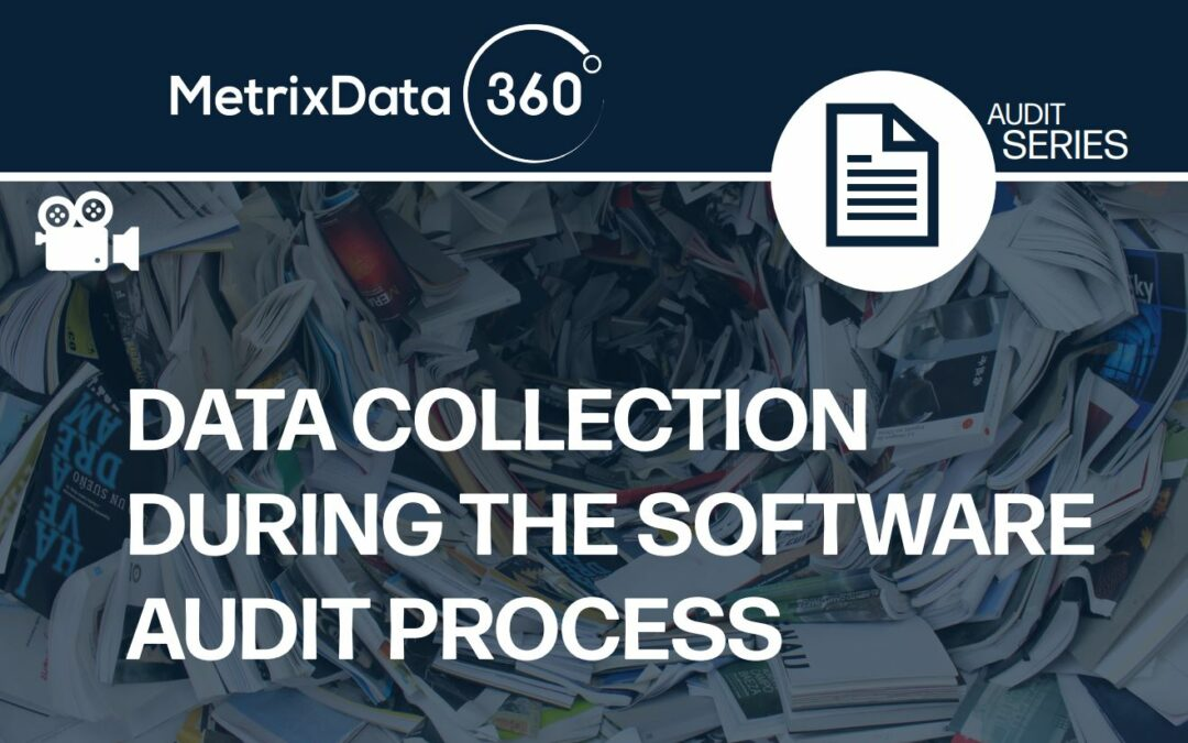 Data Collection During the Software Audit Process