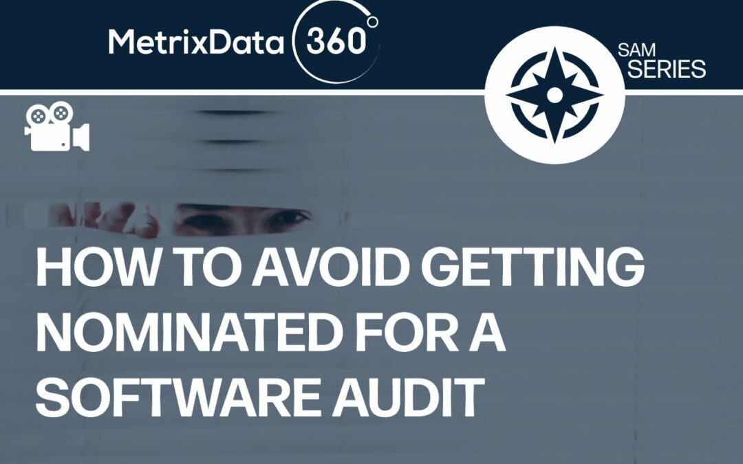 How to Avoid Getting Nominated for a Software Audit